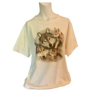 Vintage 00's Short Sleeve Wolf T-Shirt Women's Cut